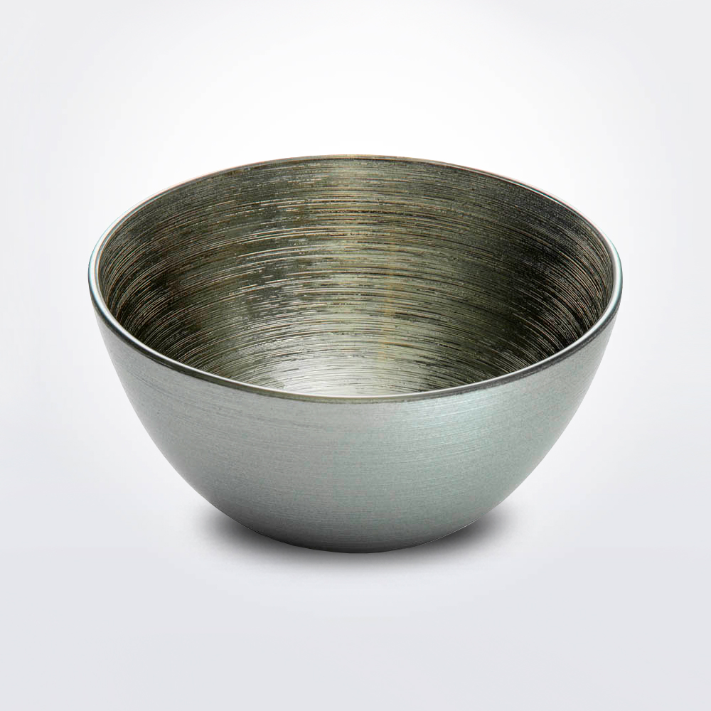 Bombay silver gold small bowl with white background.