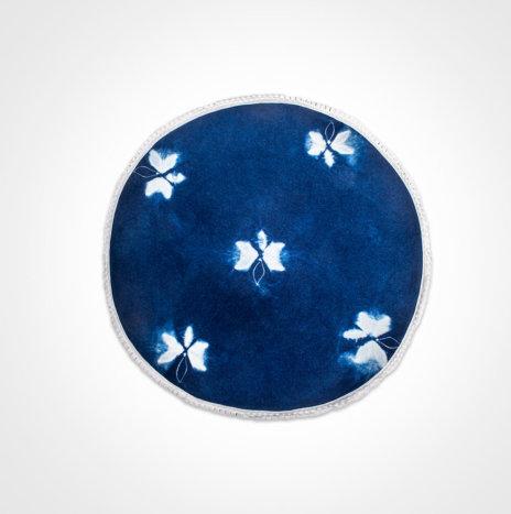Indigo Tie Dye Round Placemat Set II