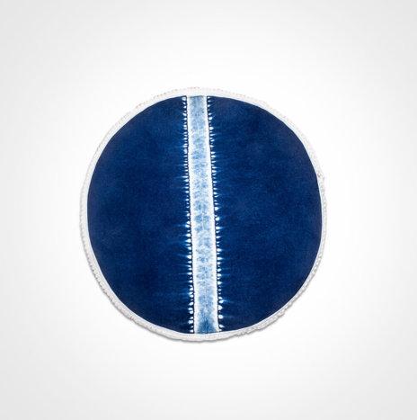 Indigo Tie Dye Round Placemat Set III