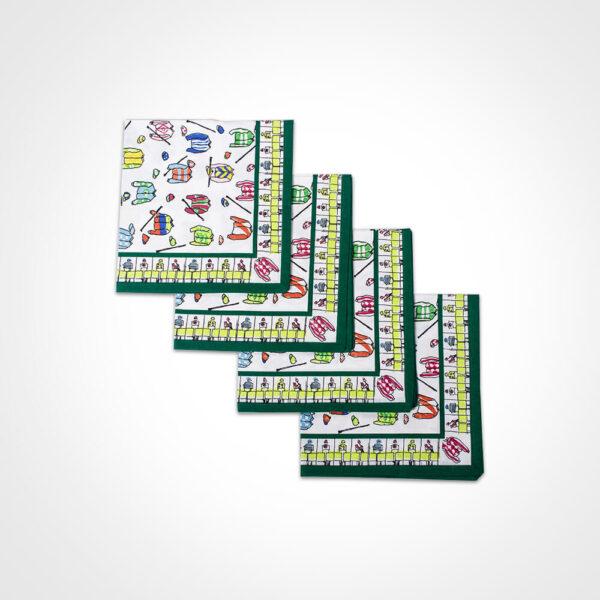 Jockey silk napkin set product picture.