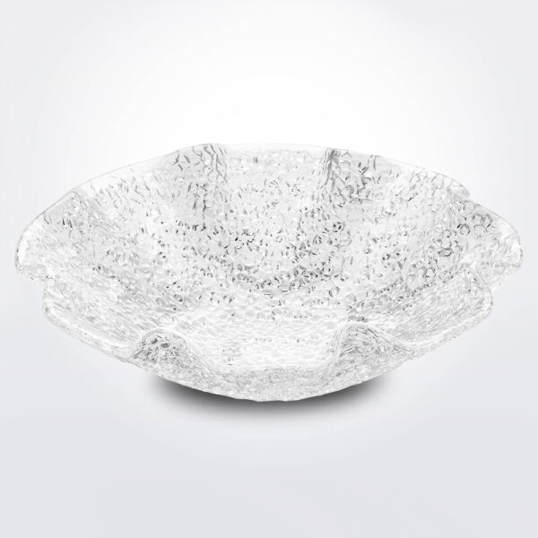 Special clear bowl with white background.
