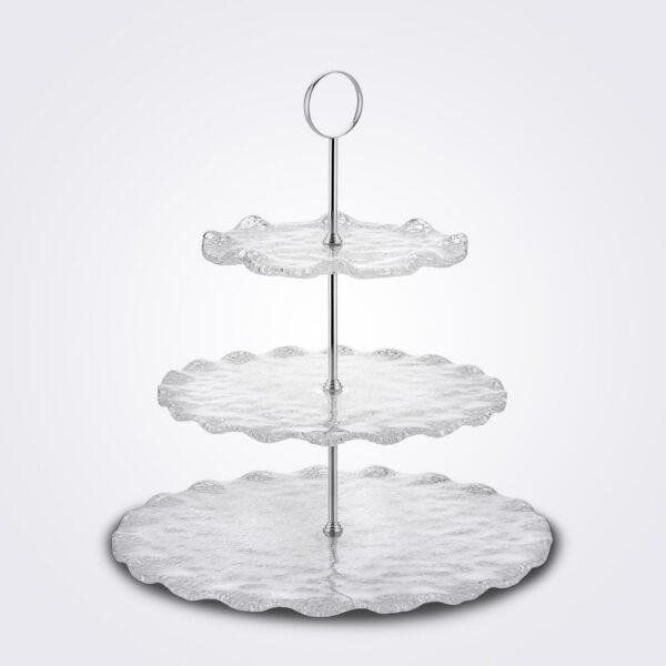 Three tier glass server.
