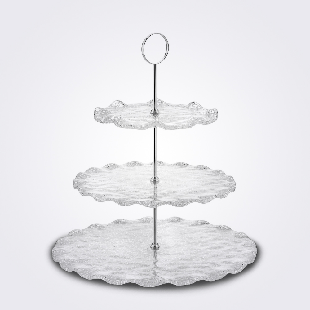 Three tier glass server 1