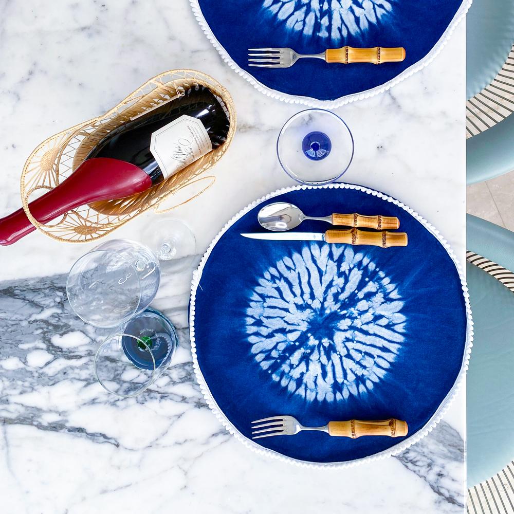 Indigo-tie-dye-round-placemat-set-3