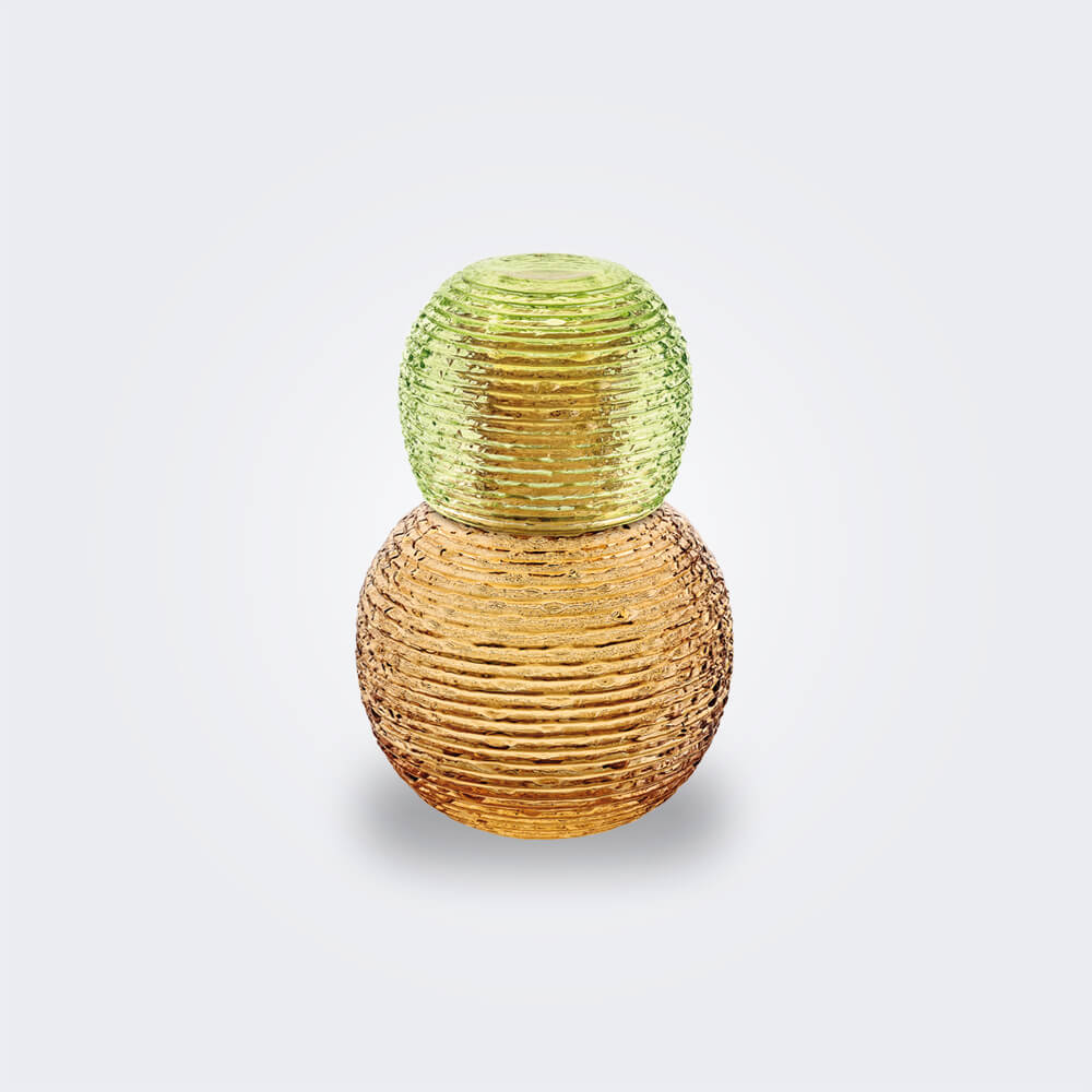 Amber-bottle-and-glass-set