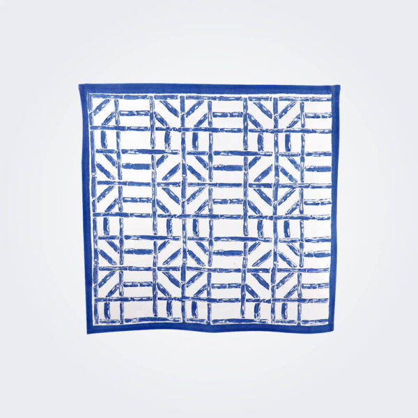 Blue bamboo napkin product picture.