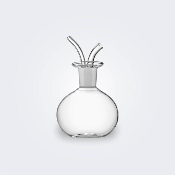 Cocoon glass oil decanter product picture.