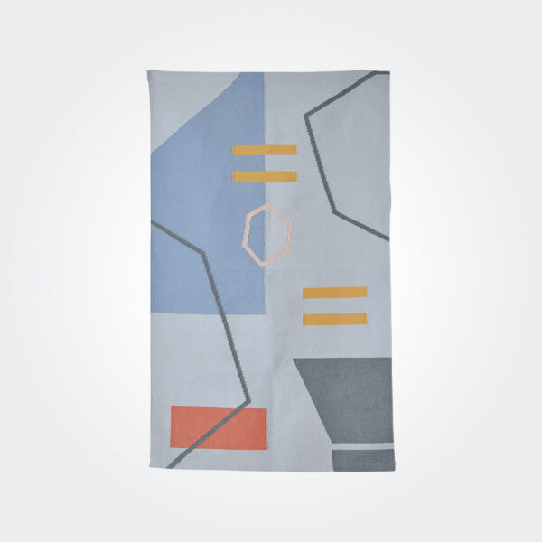 Geometric abstract rug product picture.