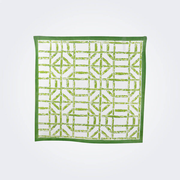 Green bamboo napkin product picture.