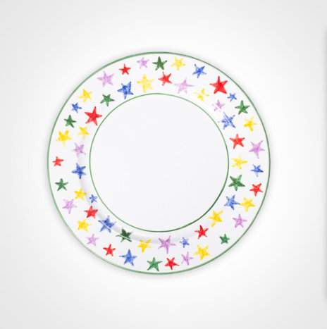 Multicolor Stary Charger Plate Set