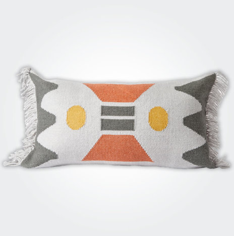 Noon Fringed Pillow Cover