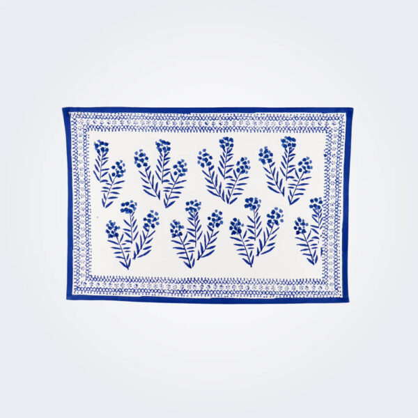 Phlox blue placemat set product picture.