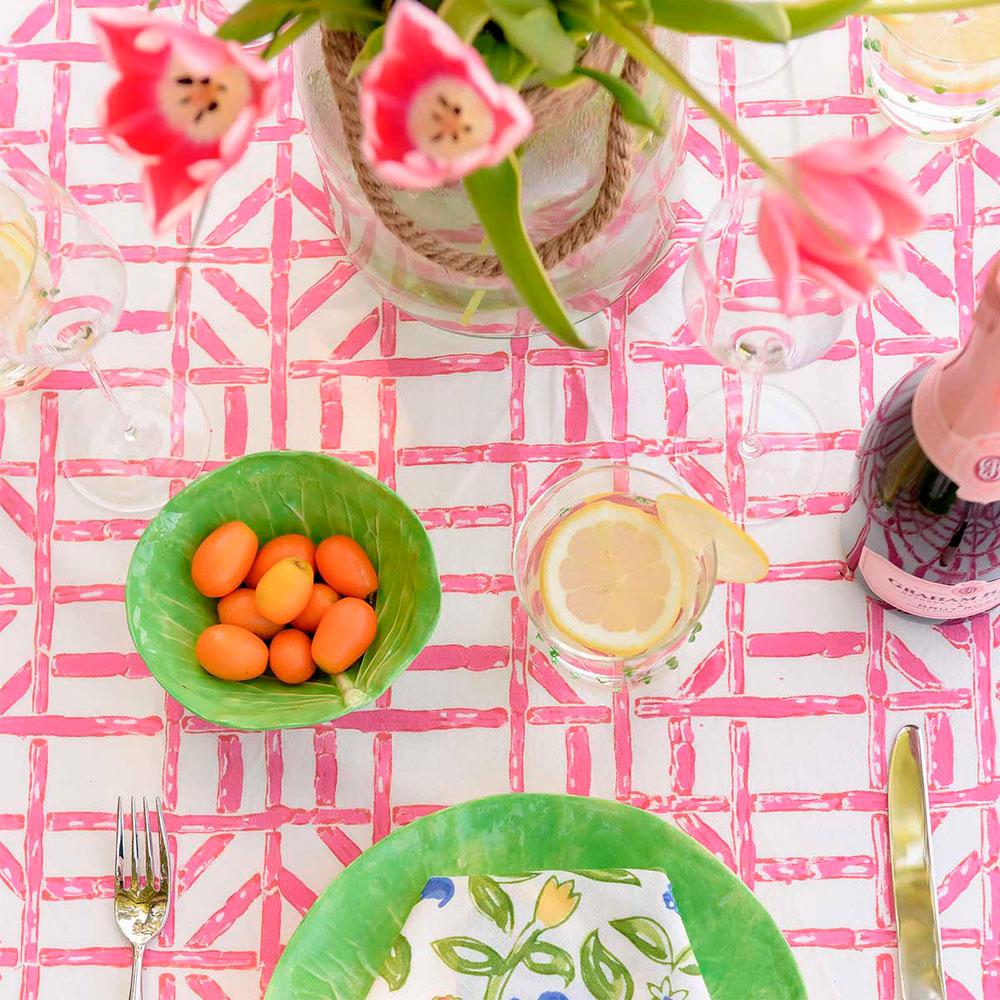 Pink-bamboo-tablecloth-2