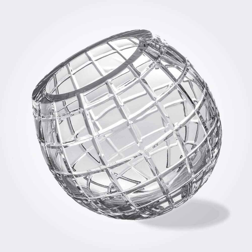 Biglie-grid-glass-vase-fondo gris 2