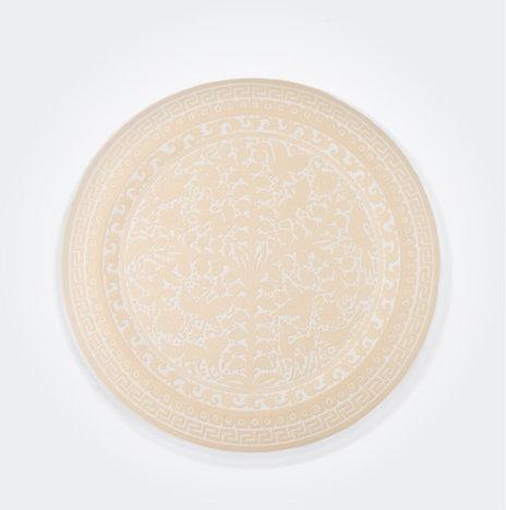 Beige Olinala Round Tray