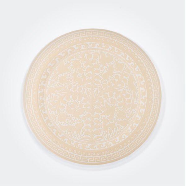 Beige olinala round tray product photo.