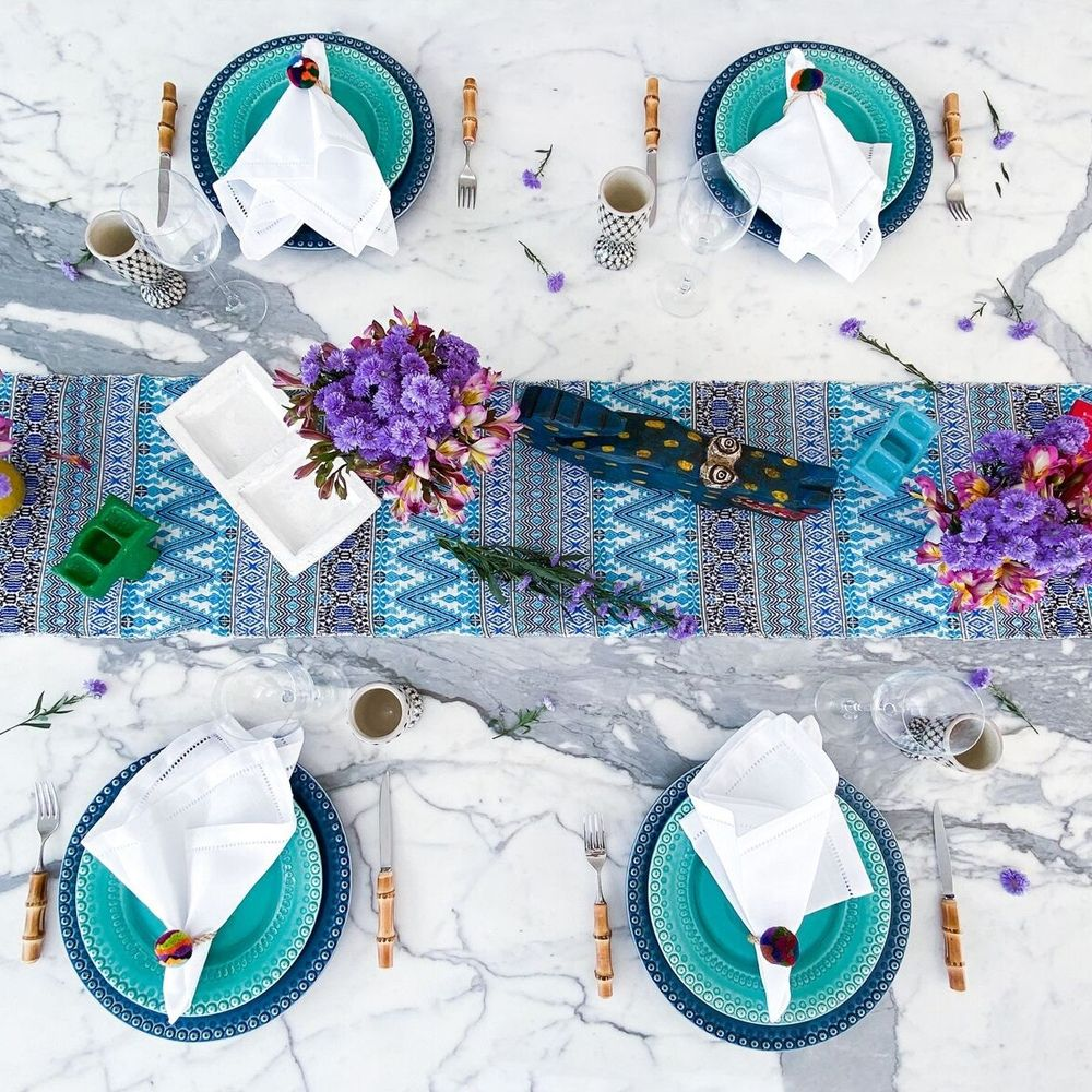 Blue-hues-table-runner