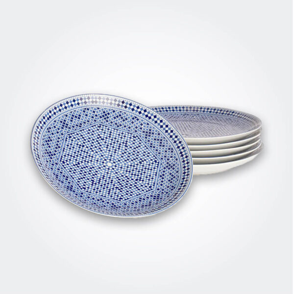 Cocema moroccan dinner plate set product picture.