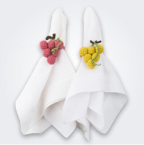 Crochet Grape Napkin Ring Set II