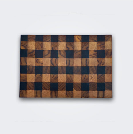 Gingham Wood Cutting Board