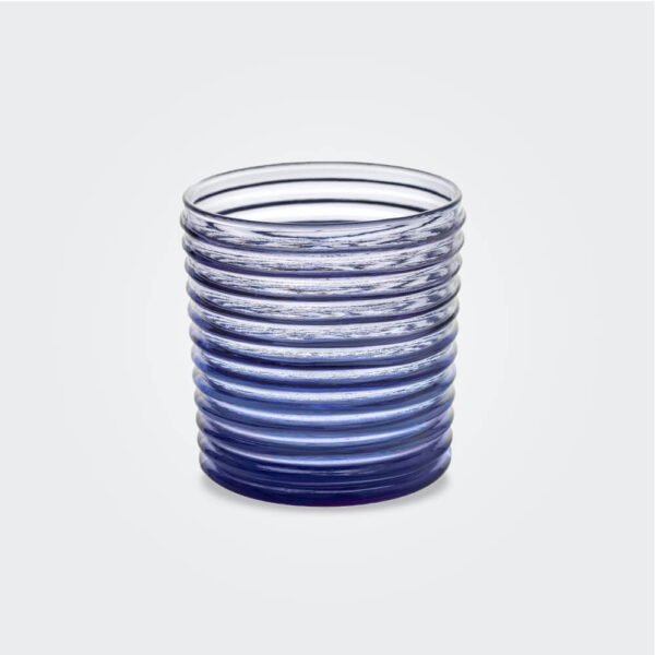 Vertigo indigo glass set product picture.