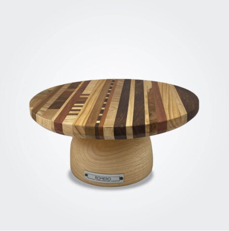 Mixed Wood Cake Stand (Small)