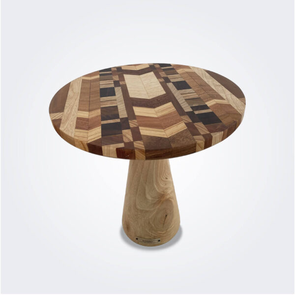 Large wood cake stand product picture.