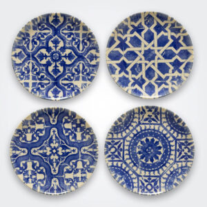 Algarve ceramic dessert plate set product picture.