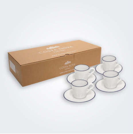 Beja Ceramic Coffee Cup and Saucer Set