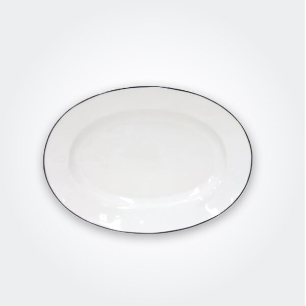 Beja ceramic oval platter product picture.