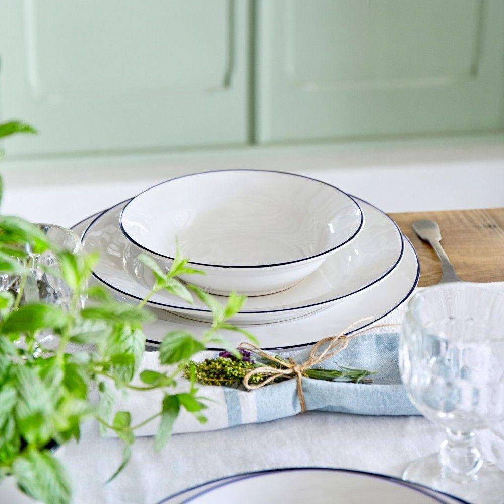 Beja ceramic pasta plate set 2