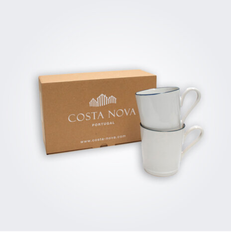 Beja White Mug Set
