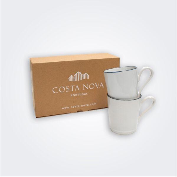 Beja white mug set product picture.