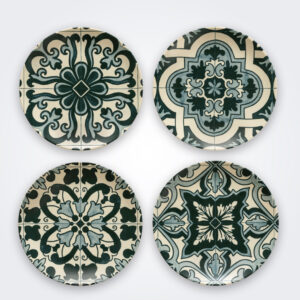 Lamego ceramic salad plate set product picture.