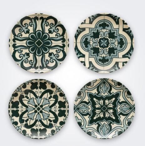 Lamego Ceramic Salad Plate Set