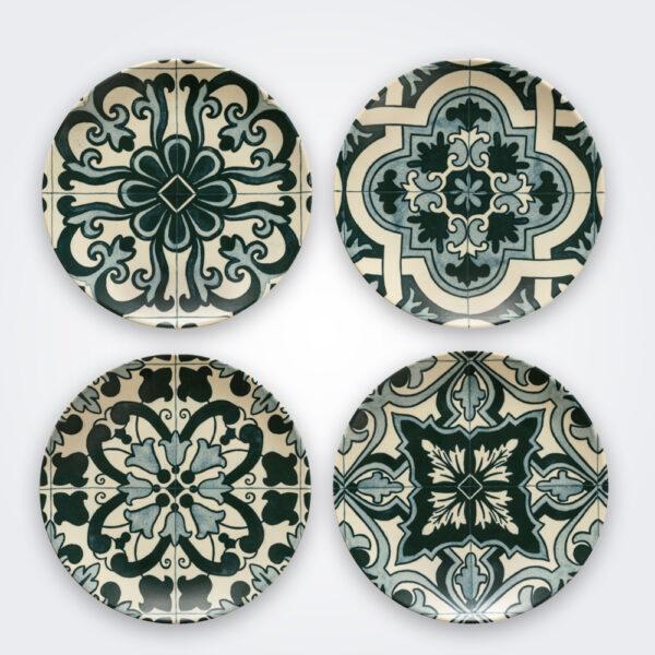 Lamego ceramic salad plate set product picture.