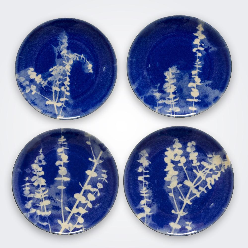 Lomo ceramic salad plate set 1
