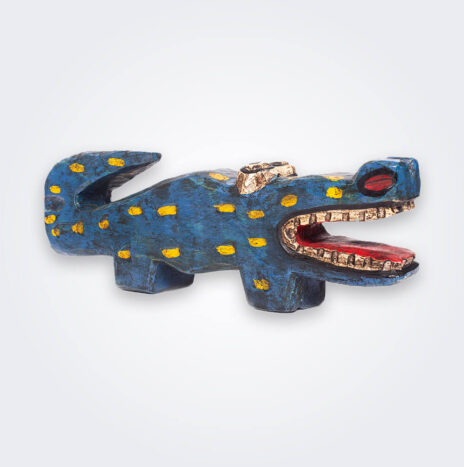 Blue Wooden Lizard