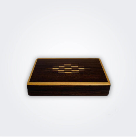 Dark Wood Cocktail Sticks Box