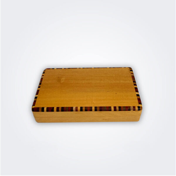 Cocktail sticks light wooden box product picture.