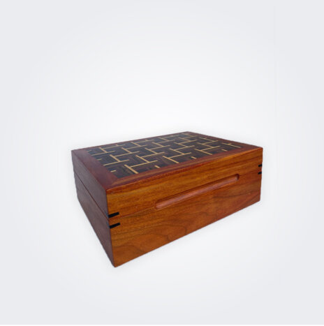 Dark Wood Tea Storage Box