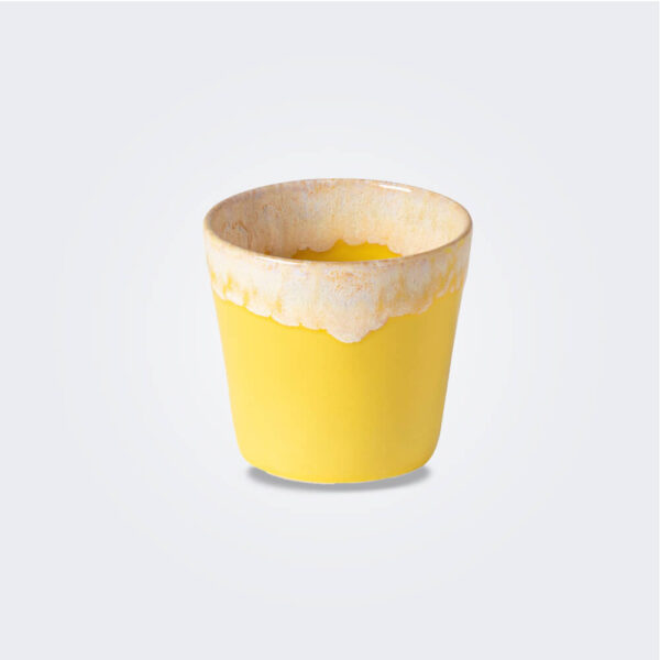 Espresso yellow cup product picture.