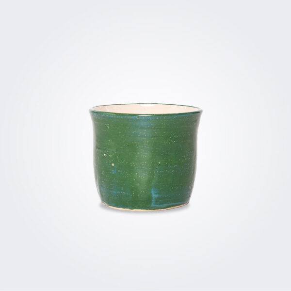 Green ceramic pot product picture.