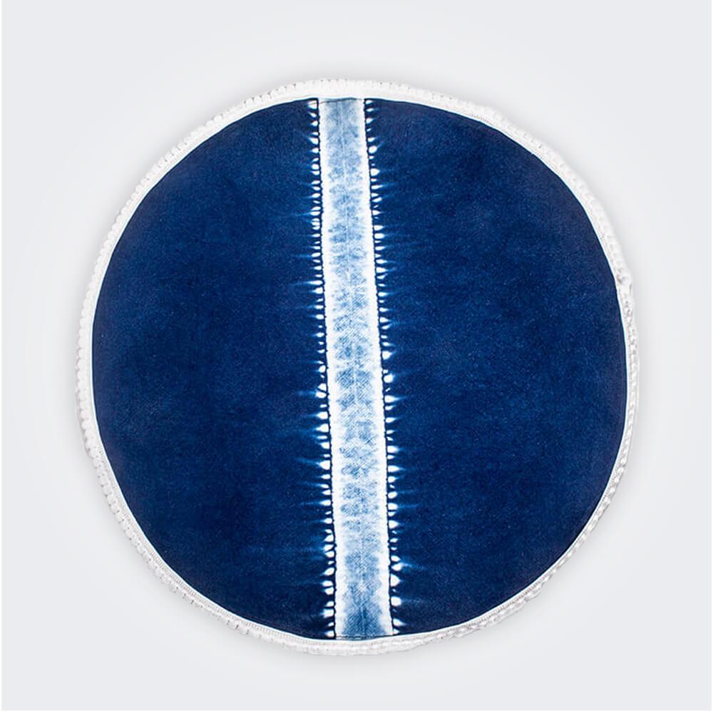 Indigo-tie-dye-round-placemat-set-iii