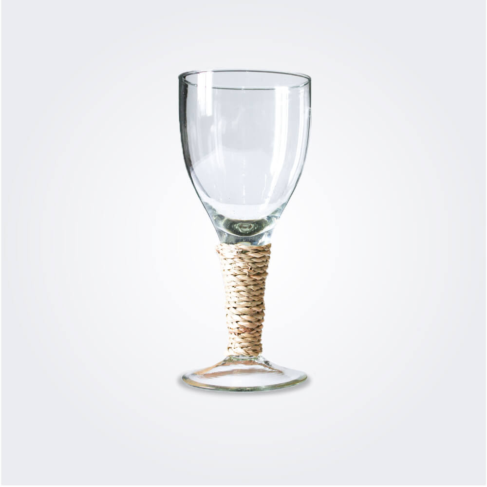 Large seagrass wine glass set product picture.