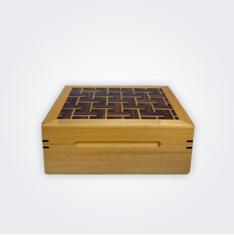 Light Wood Tea Storage Box