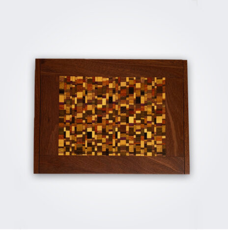 Mosaic Wood Domino Box