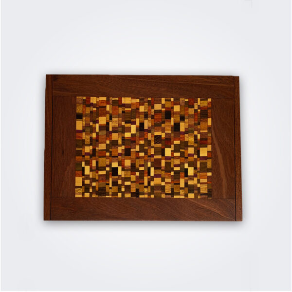 Mosaic wood domino box product picture.
