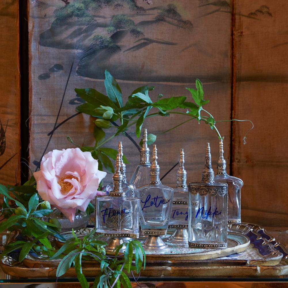 Clear Perfume Bottle Set