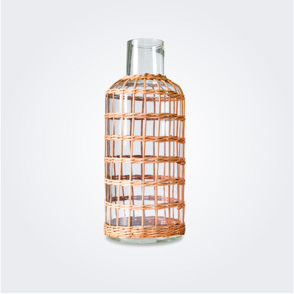 Large rattan cage vase product picture.